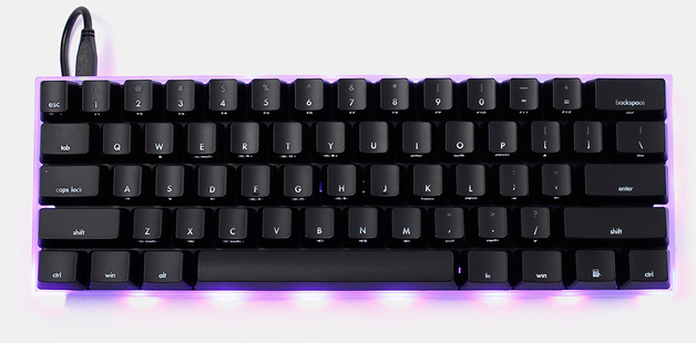 KBParadise V60 Type R Polestar MX Blue 60% Mechanical Keyboard Black
