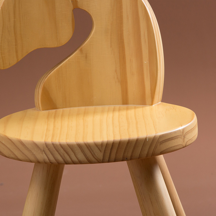 Kids Wooden Zoo Chair - Horse image