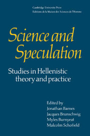 Science and Speculation by Jonathan Barnes