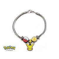 Pokemon Pikachu Bead Charm Bracelet Set
