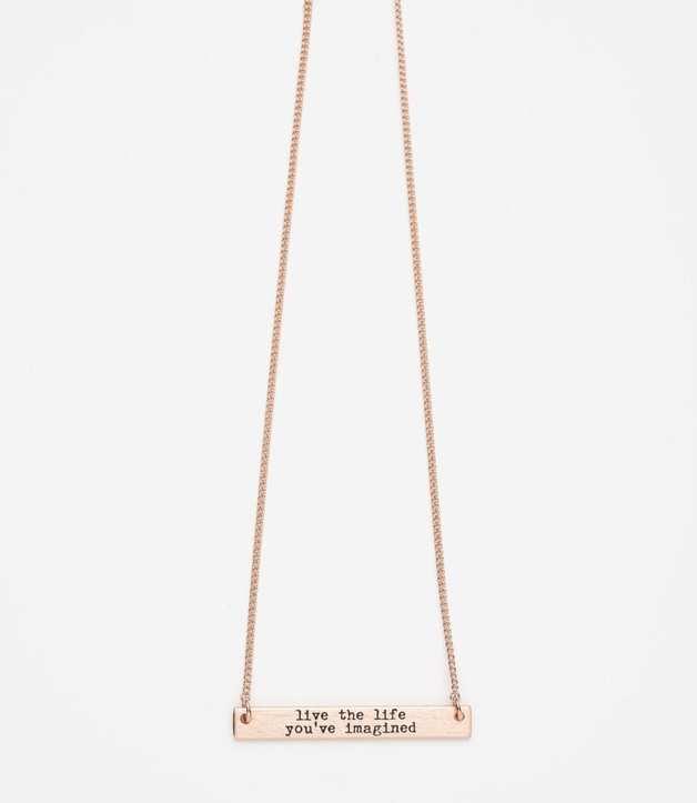 Stilen: Imagine rose gold necklace