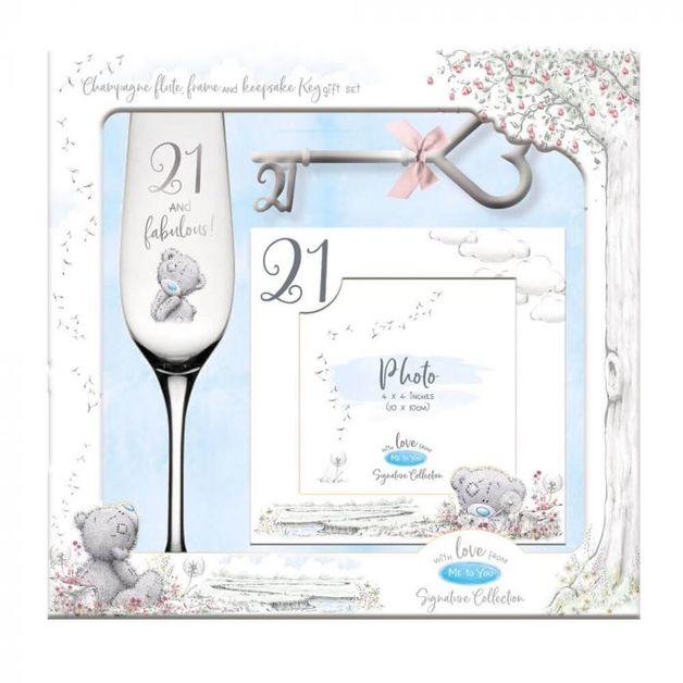 Me To You: 21St Gift Set- Flute - Frame And Keepsake Key (2020)
