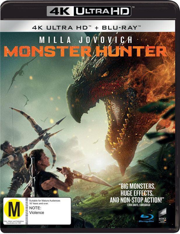 Monster Hunter (4K UHD + Blu-Ray) on Blu-ray