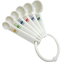 Plastic Measuring Spoons - Set of 6 image