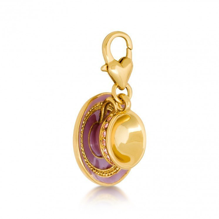 Couture Kingdom: Disney - Alice in Wonderland Cup and Saucer Charm (Yellow Gold) image