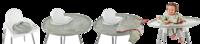 Tidy Tot: Bib & Tray Kit - Dove Grey