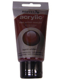 75ml Reeves Fine Acrylic - Burnt Umber