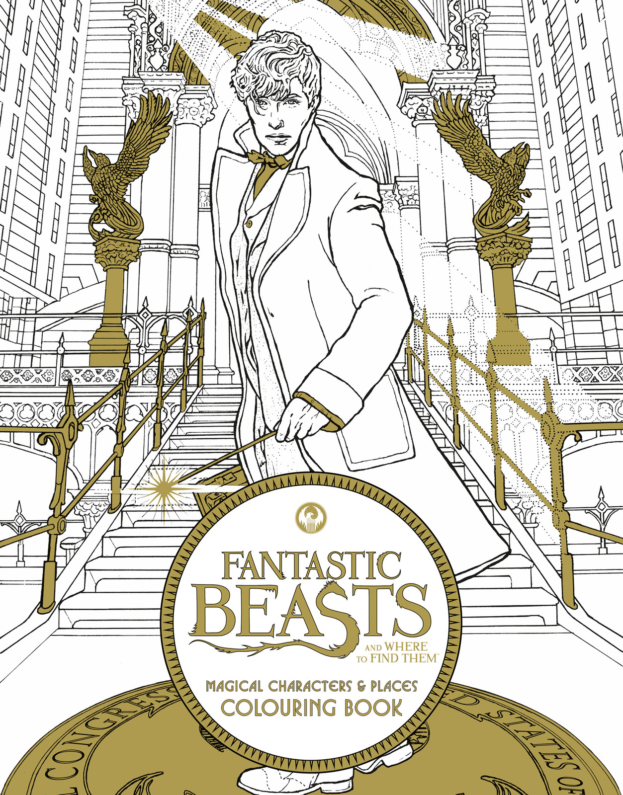 Fantastic Beasts and Where to Find Them: Magical Characters and Places Colouring Book by HarperCollins Publishers image