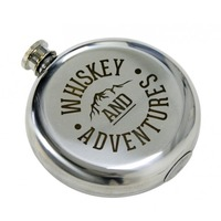 Hip Flask (Whiskey & Adventures)