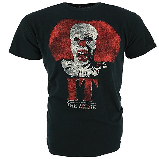 It - The Movie: Pennywise Clown Logo T-Shirt (Small)