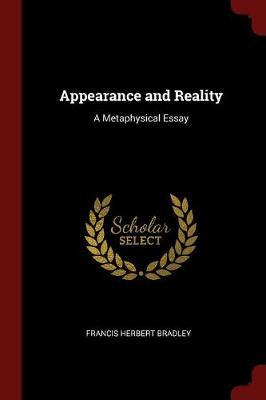 Appearance and Reality by Francis Herbert Bradley image
