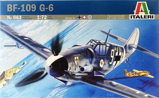 Italeri Messerschmitt BF-109 G6 1:72 Model Kit
