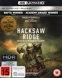 Hacksaw Ridge on Blu-ray, UHD Blu-ray