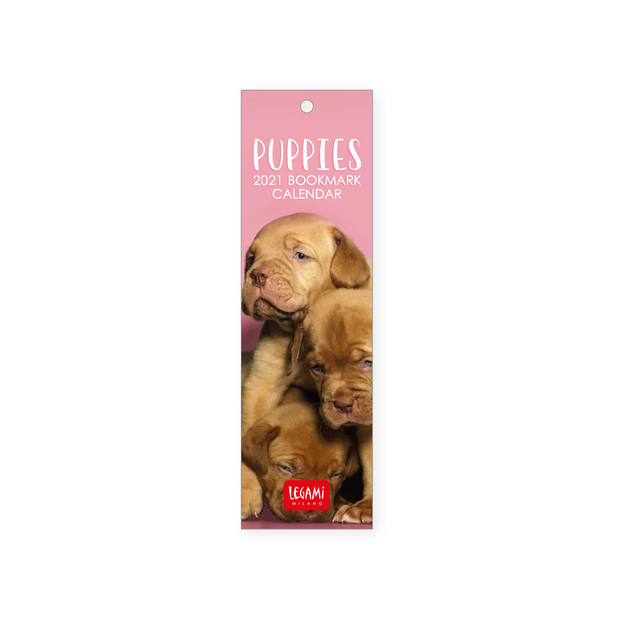 Legami: Puppies 2021 Bookmark Calendar 5.5 x 18 cm
