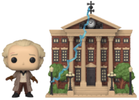 Back to the Future: Doc with Clock Tower - Pop! Town Figure image