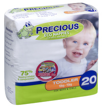 Precious: Eco Nappies - Toddler (20 Pack)