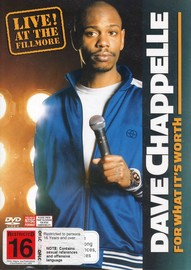 Dave Chappelle - For What It's Worth: Live! At The Fillmore on DVD image