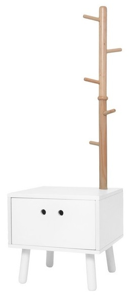 J.i.P Drawer Dress Boy & Coat Rack - White
