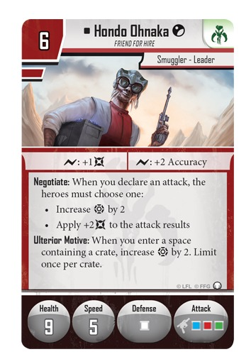 Star Wars: Imperial Assault: Hondo Ohnaka - Villain Pack image