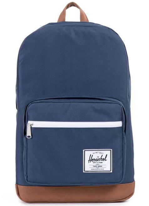Herschel Supply Co: Pop Quiz - Navy/Tan Synthetic Leather