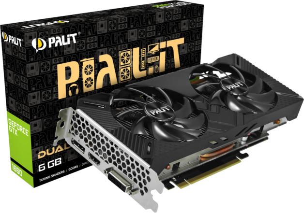 NVIDIA GeForce GTX 1660 Dual 6GB Palit GPU