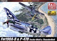Academy Fw190A-8 & P-47D 1/72 Model Kit Set