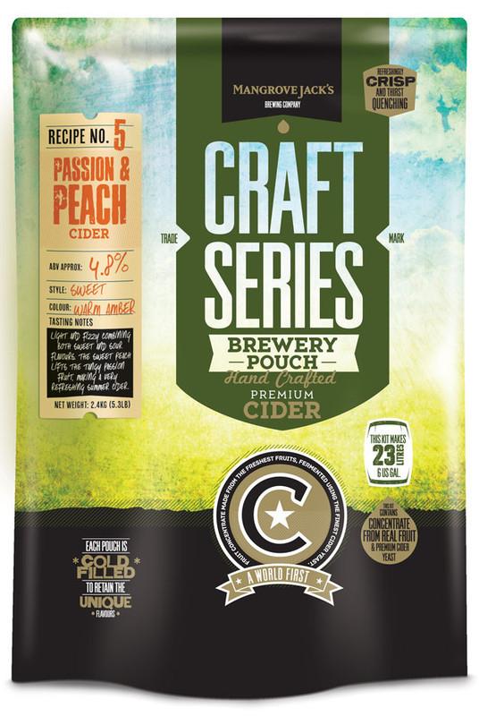 Mangrove Jack's: Craft Series - Peach & Passionfruit Cider Pouch (2.4kg)