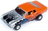 Auto World ThunderJet Ultra-G R8 '69 Chevy Nova SS Slot Car - Orange with Flames