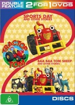 Tractor Tom - Double Feature: Sports Day And Other Stories / Baa Baa Tom Sheep And Other Stories (2 Disc Set) on DVD