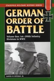 German Order of Battle by Samuel W Mitcham image