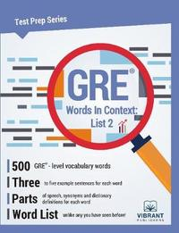 GRE Words in Context -- List 2 by Vibrant Publishers image