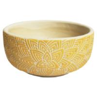 Mandela: Flower Bowl - Yellow (18cm)