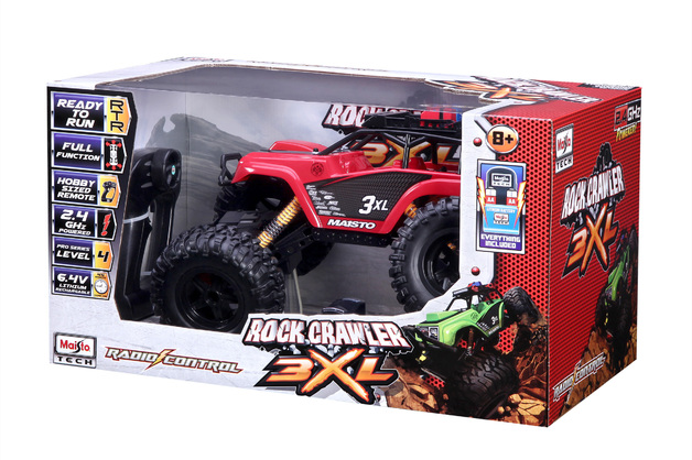 Maisto - RC Rock Crawler Monster Truck 3XL - Red