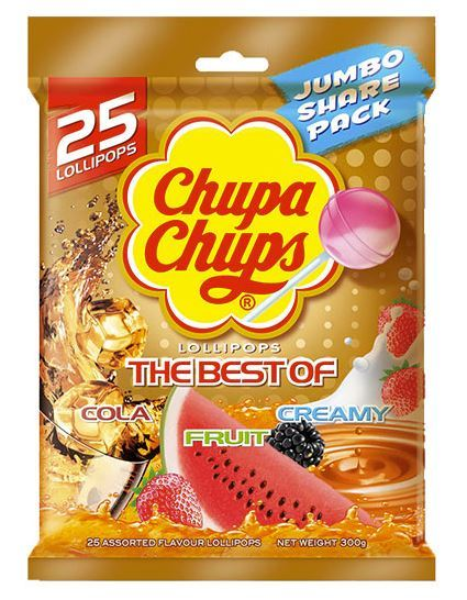 Chupa Chups - The Best Of All - 25 Pack (300g) image