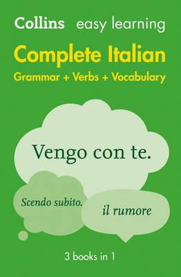 Easy Learning Complete Italian Grammar, Verbs and Vocabulary (3 books in 1) image