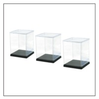 Hobby Base: Model Cover 3-Piece Set - (Small/Square/Black)