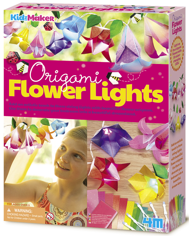 4M KidzMaker: Origami Flower Lights Craft Kit