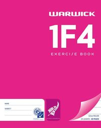 Warwick 1F4 24lf 12mm Exercise Book Pack of 2