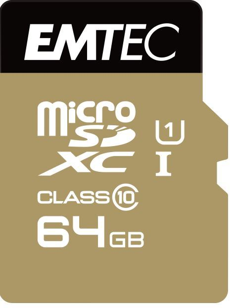 64GB Emtec Micro SD Card Gold+ (Class 10)