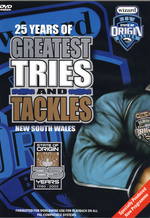 25 Years Of Tries And Tackles NSW on DVD