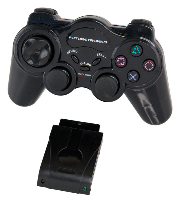 Futuretronics Wireless Controller - Black for PlayStation 2