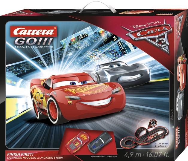 Carrera GO!!! Disney Cars 3 Finish First