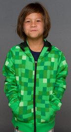 Minecraft Creeper Premium Zip-Up Youth Hoodie (XL) image