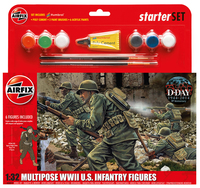 Airfix Kitset - Starter Set Medium - WWII US Infantry