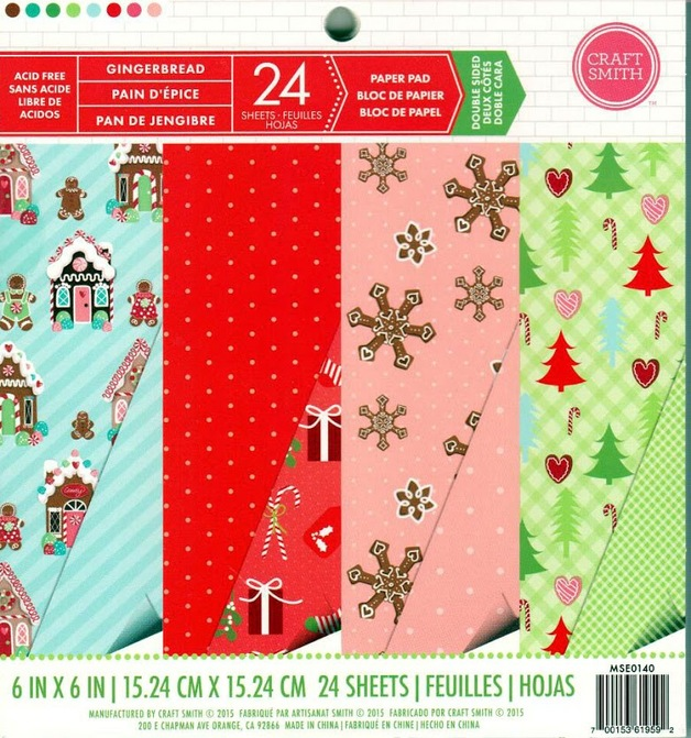 Buy Craft Smith: 6 X 6 Cardstock Christmas Pad - Gingerbread