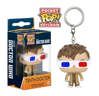Doctor Who: 10th Doctor (3D Glasses) - Pocket Pop! Key Chain
