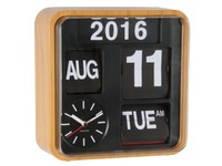 Karlsson: Calendar Clock Mini Flip - Wood (Small)
