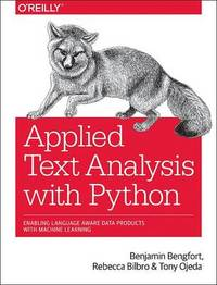 Applied Text Analysis with Python by Benjamin Bengfort