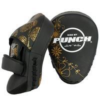 Punch Urban Focus Pads - Black & Gold Skulls