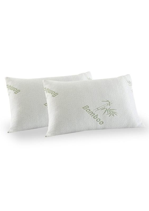 Royal Comfort Bamboo-Covered Memory Foam Pillows - Twin Pack